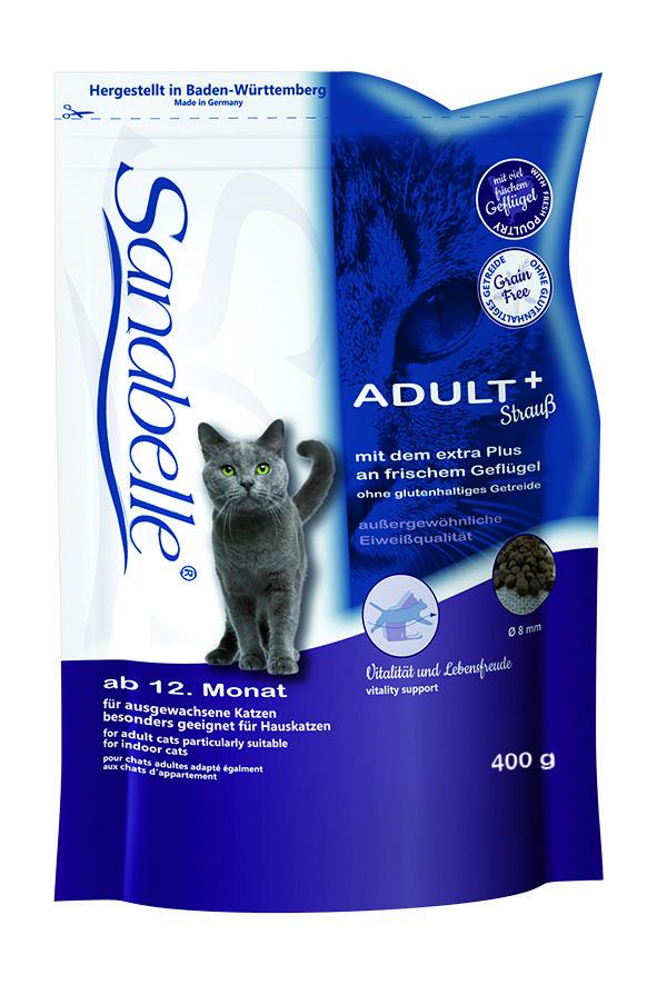 Сухой корм Sanabelle Adult с мясом страуса для взрослых кошек