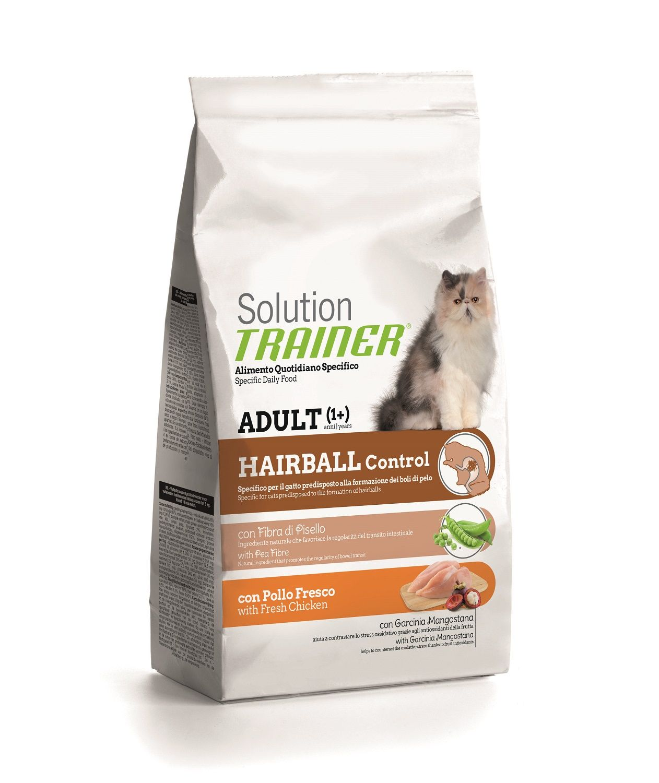 Сухой корм Trainer Solution Hairball с курицей для выведения комков шерсти из желудка кошек