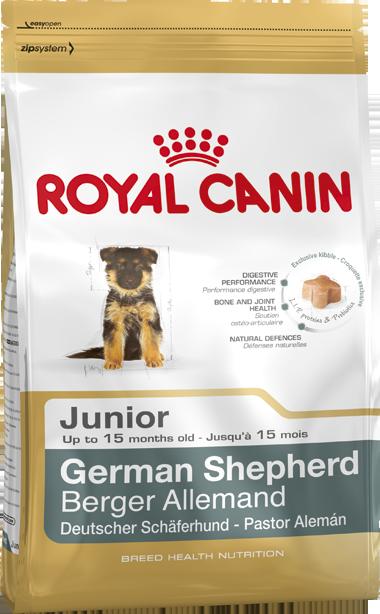 Сухой корм Royal Canin German Shepherd Junior для щенков породы Немецкая овчарка
