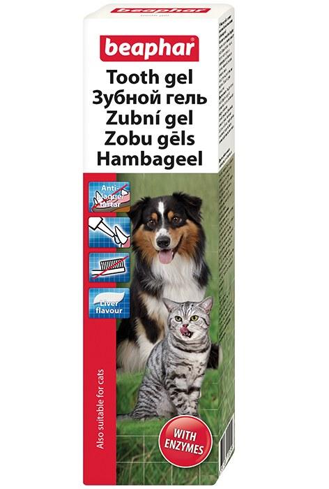 Гель Beaphar Tooth Gel зубной со вкусом печени для собак и кошек 100 г