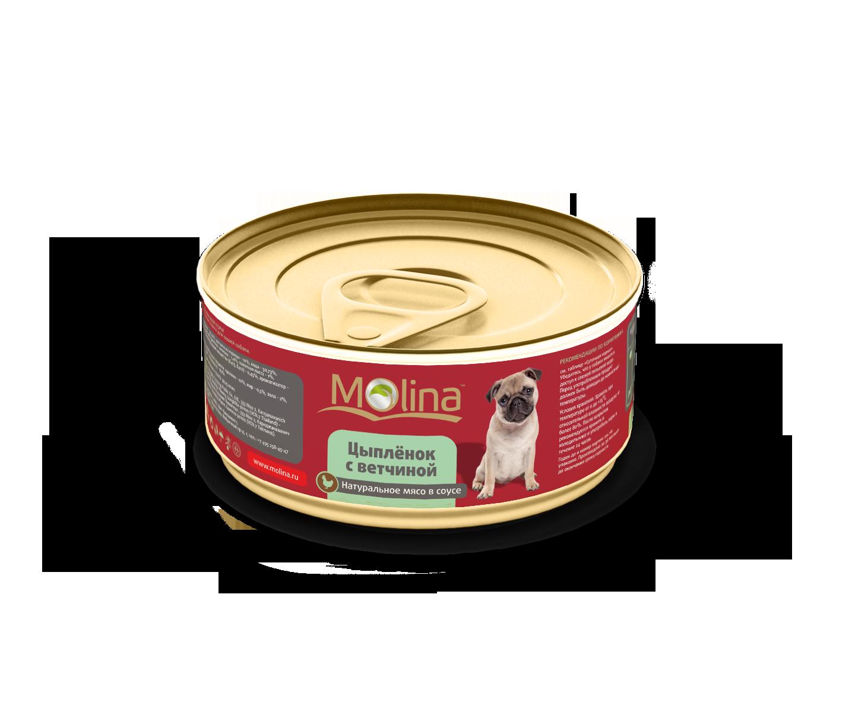 Консервы Molina в соусе для собак 85 г