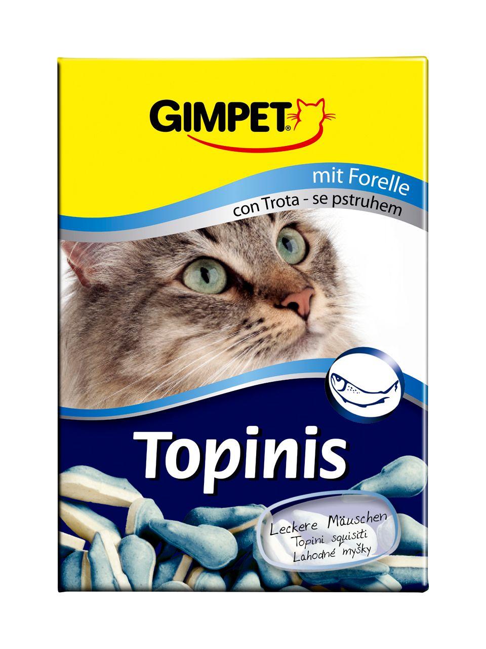 Витаминизированное лакомство Gimpet Topinis мышки с форелью и таурином