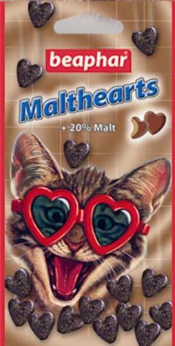 Сердечки Beaphar Malthearts для вывода шерсти из желудка для кошек 150 шт.