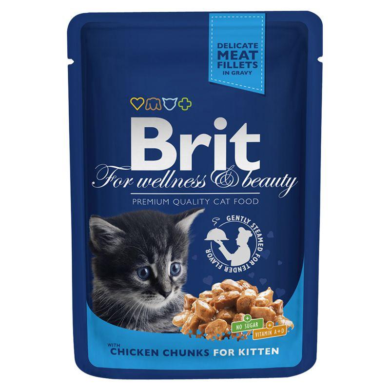 Паучи Brit Premium для котят 100 г