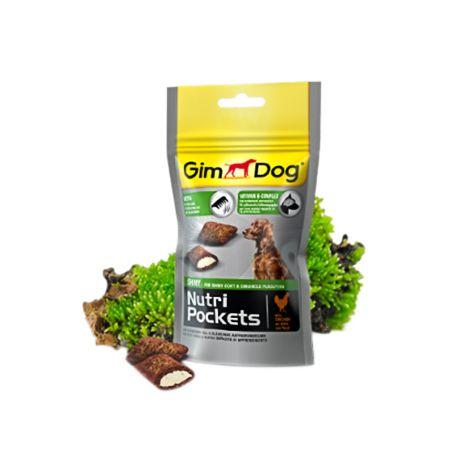 Подушечки Gimdog NutriPockets Shiny с биотином и витаминами группы В для собак