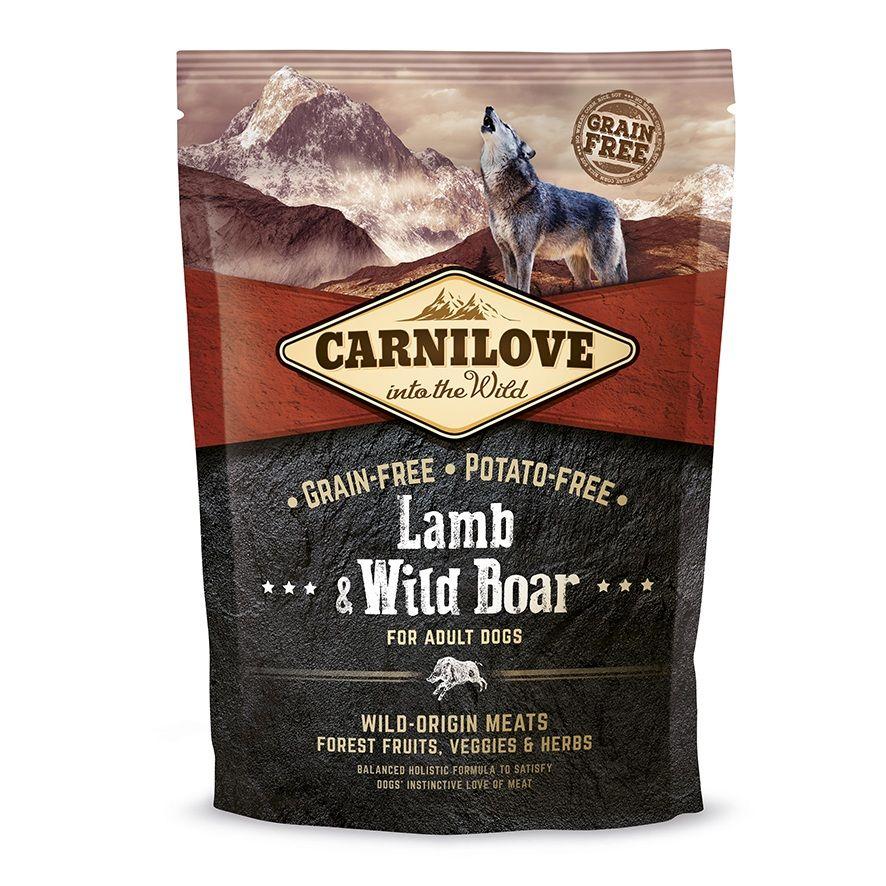 Сухой корм Brit Carnilove Lamb&Wild Boar For Adult с ягненком и диким кабаном беззерновой для взрослых собак всех пород