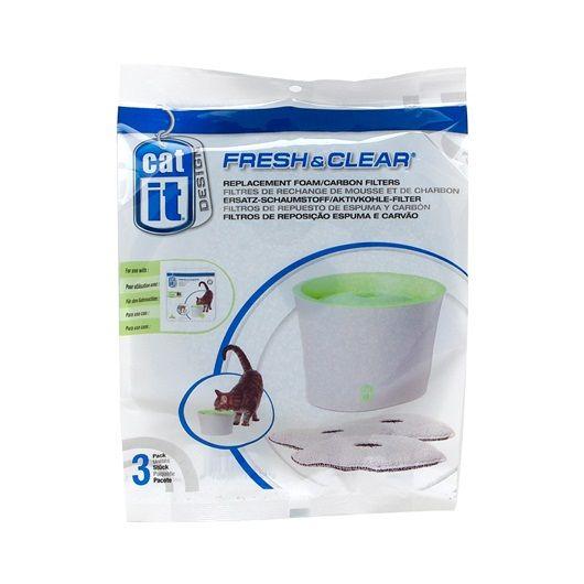 Сменный фильтр для питьевого фонтанчика Hagen Catit 3 л для кошек, 3 шт