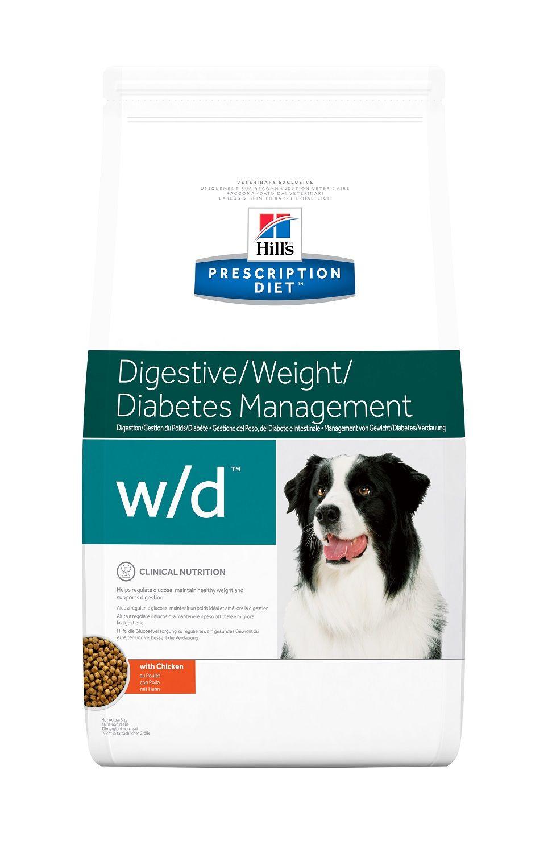 Сухой корм Hill's Prescription Diet W/D Digestive/Weight/Diabetes Management для лечения сахарного диабета, запоров и колитов у собак