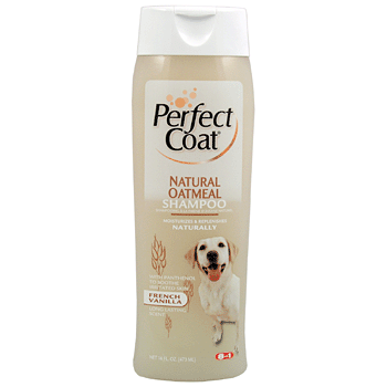 Шампунь 8in1 Perfect Coat Natural Oatmeal Shampoo овсяный для собак