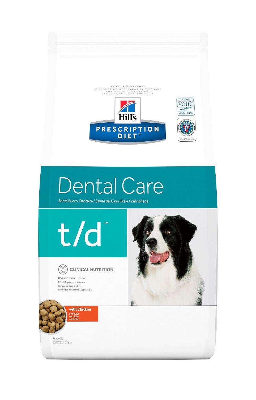 Сухой корм Hill's Prescription Diet T/D Dental Care для лечения заболеваний полости рта у собак 3 кг
