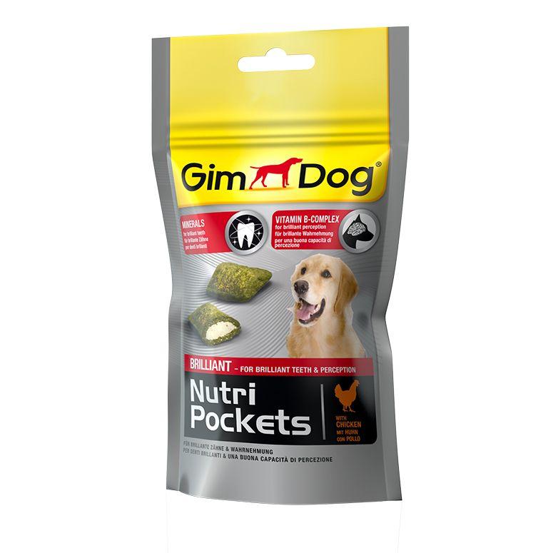 Подушечки Gimdog NutriPockets Brilliant с минералами и витаминами группы В для собак 45 г