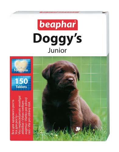 Витаминизированное лакомство Beaphar Doggy's Junior для щенков 150 таб