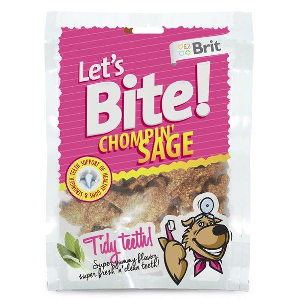 Лакомство Brit Let's Bite Chompin' Sage с экстрактом шалфея для собак 150 г