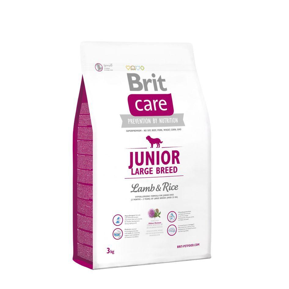 Сухой корм Brit Care Junior Large Breed с ягненком и рисом для юниоров крупных пород