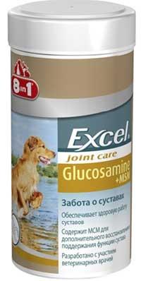 Пищевая добавка 8in1 Excel Joint Care Glucosamine + MSM с глюкозамином для собак