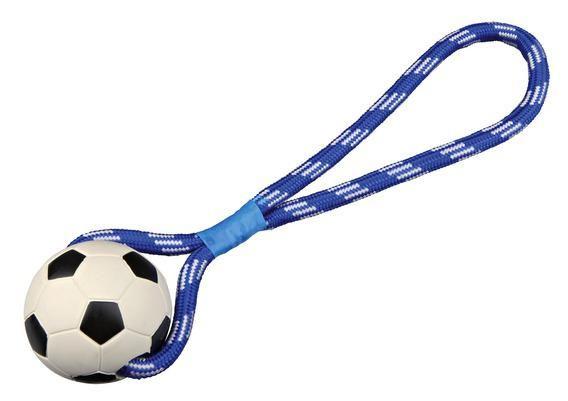 Игрушка Trixie 33490 Мяч футбольный на веревке для собак