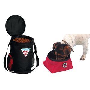 Дорожный набор Trixie: миска 1,8 л и сумка для корма на 1,5 кг, нейлон