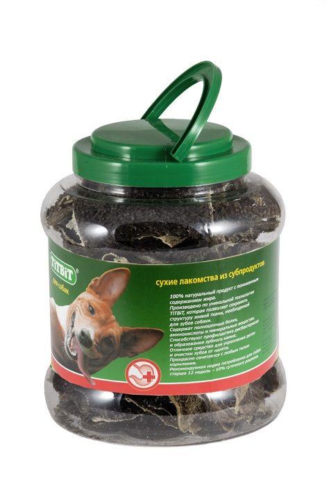 Рубец говяжий TiTBiT в пластиковой банке для собак 4,3 л