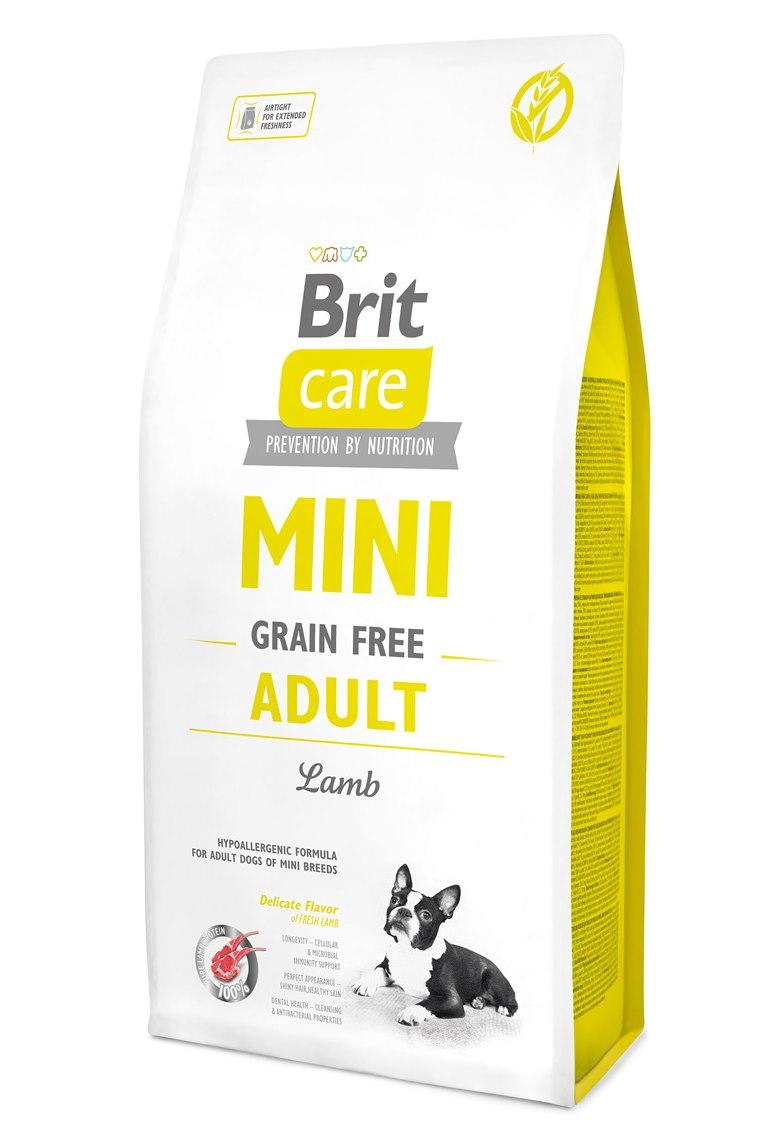 Сухой корм Brit Care Mini Grain Free Adult гипоаллергенный корм для взрослых собак миниатюрных пород