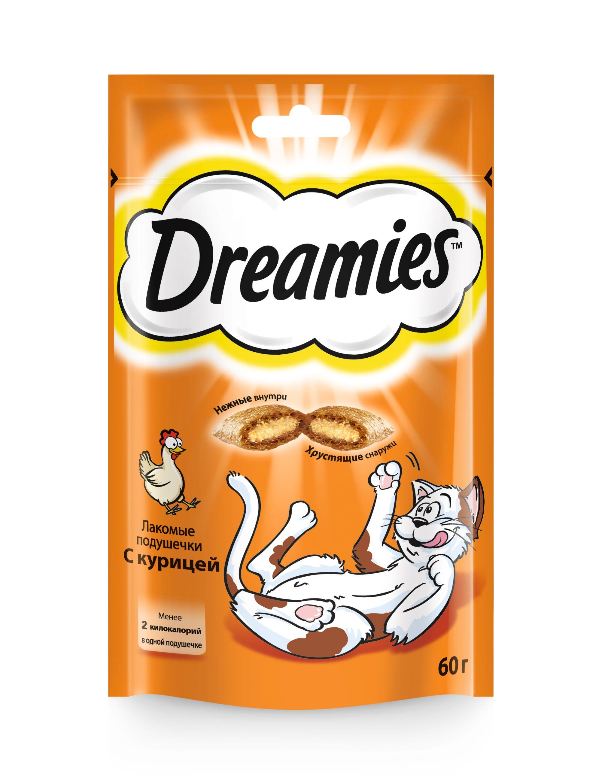 Лакомство Dreamies для кошек с курицей 60 г