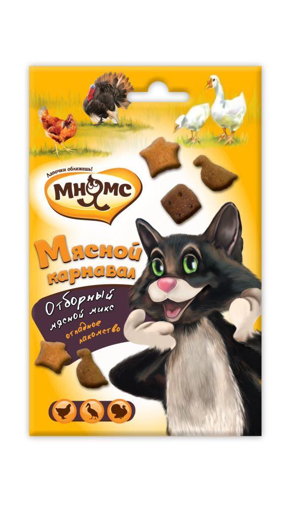 Лакомства Мнямс Мясной карнавал для кошек