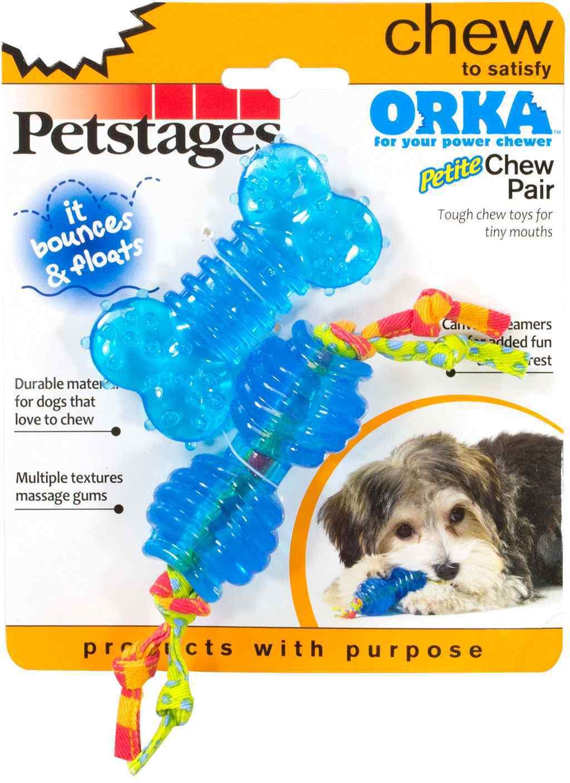 Игрушка Petstages ORKA Chew Pair Косточка и гантель для собак мелких пород