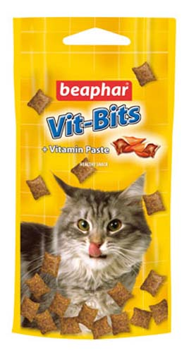 Подушечки Beaphar Vit-Bits для кошек с мультивитаминной пастой