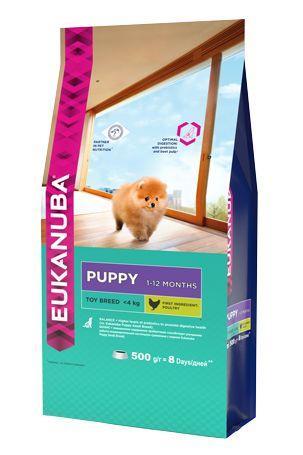 Сухой корм Eukanuba Puppy Toy Breed для щенков миниатюрных пород