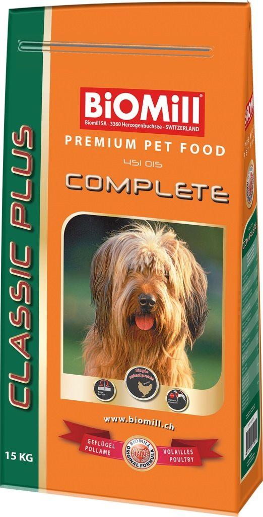 Сухой корм Biomill Classic Complete с курицей для взрослых и молодых собак всех пород