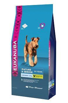 Сухой корм Eukanuba Mature & Senior Large Breed для зрелых и пожилых собак крупных пород