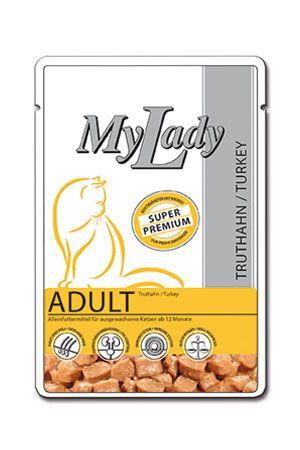 Паучи Dr. Alder's My Lady Adult с мясом индейки для взрослых кошек 85 г