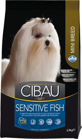 Сухой корм Farmina Cibau Sensitive Mini Fish для взрослых собак мелких пород гипоаллергенный
