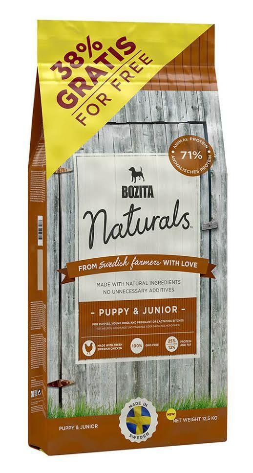 Сухой корм Bozita Naturals Puppy & Junior для щенков и юниоров, беременных и кормящих сук