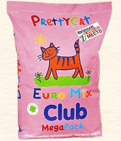 Наполнитель PrettyCat Club Euro Mix бентонитовый комкующийся