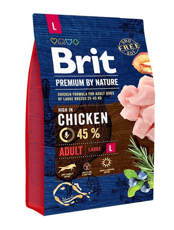 Сухой корм Brit Premium by Nature Adult L для взрослых собак крупных пород