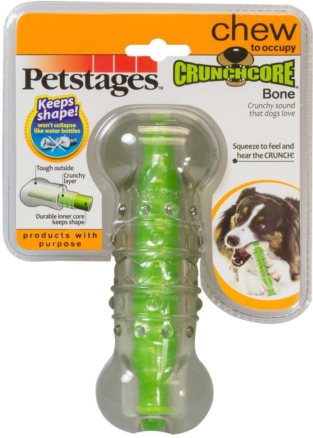 Игрушка Petstages Crunchcore Bone Косточка хрустящая резиновая для собак