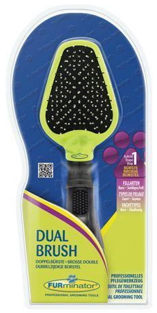 Щетка FURminator Dual Brush двусторонняя для собак и кошек