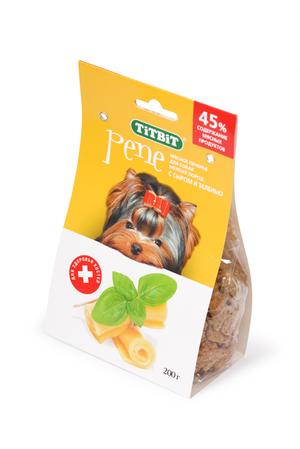 Печенье TiTBiT PENE с сыром и зеленью для собак