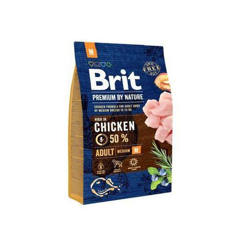Сухой корм Brit Premium by Nature Adult M для взрослых собак средних пород