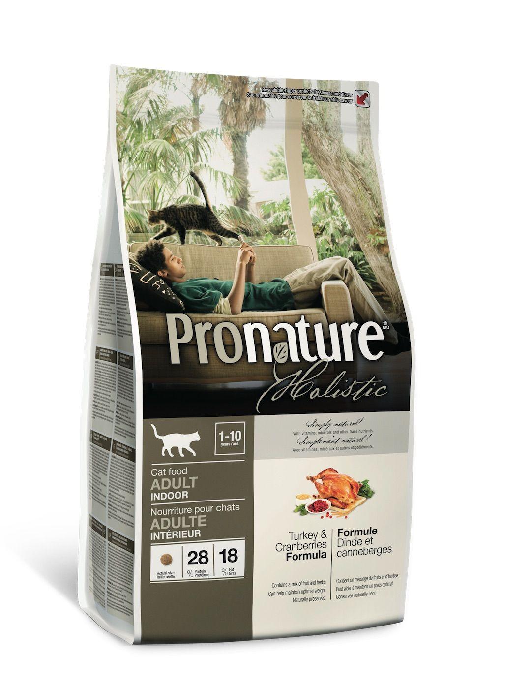 Сухой корм Pronature Holistic с индейкой и клюквой для кошек