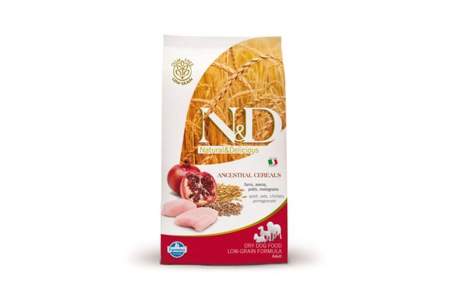Сухой корм Farmina Natural&Delicious Low Grain Dog Adult низкозерновой для взрослых собак всех пород