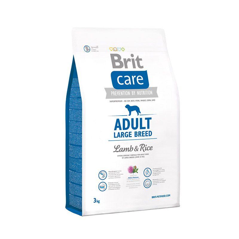 Сухой корм Brit Care Adult Large Breed с ягненком и рисом для взрослых собак крупных пород