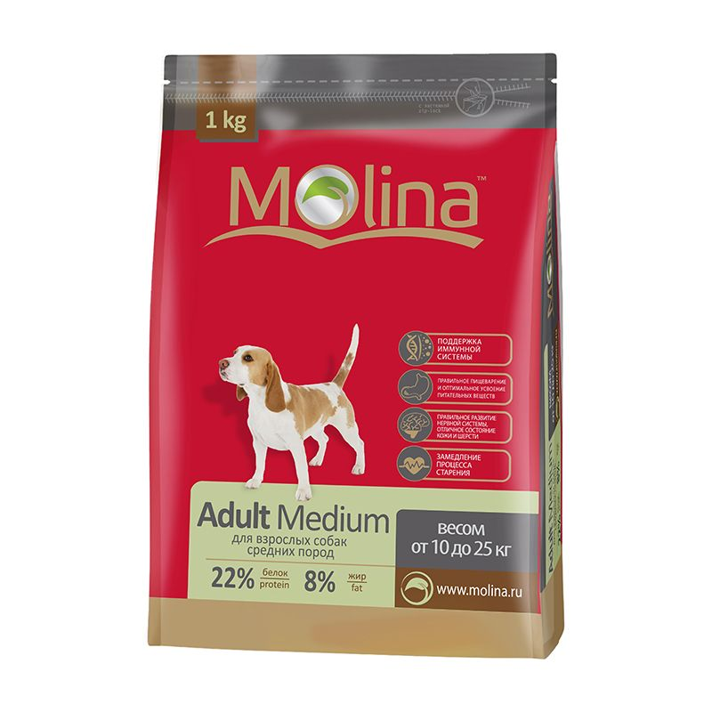 Сухой корм Molina Adult Medium для взрослых собак средних пород
