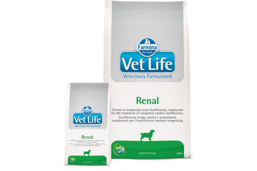 Сухой корм Farmina Vet Life Dog Renal при заболеваниях почек у собак