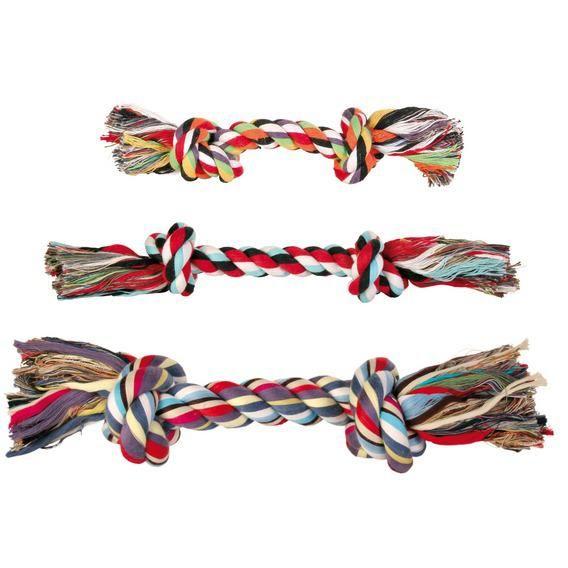 Игрушка Trixie Веревка с 2-мя узлами для собак