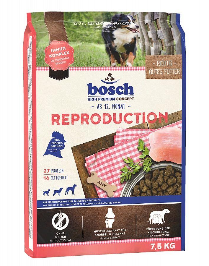 Сухой корм Bosch Reproduction для беременных и кормящих собак 7,5 кг
