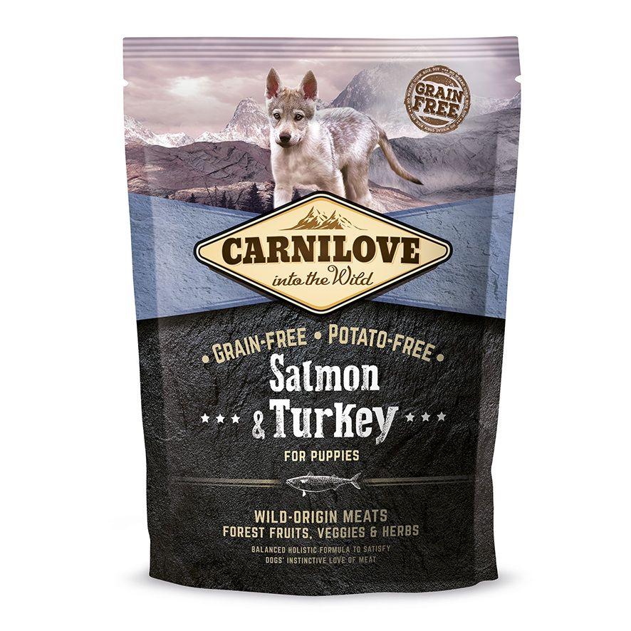 Сухой корм Brit Carnilove Salmon&Turkey For Puppies с лососем и индейкой беззерновой для щенков всех пород