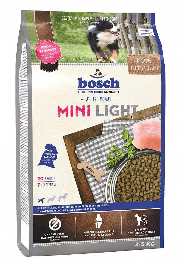 Сухой корм Bosch Mini Light низкокалорийный для собак мелких пород