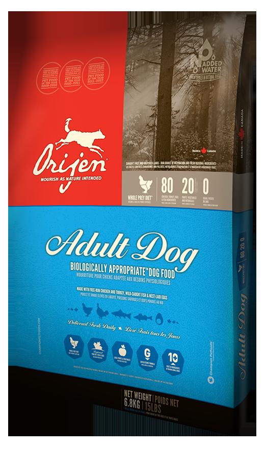 Сухой корм Orijen Adult для взрослых собак