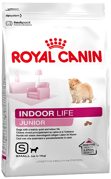 Сухой корм Royal Canin Indoor Life Junior для щенков мелких пород, постоянно живущих в помещении
